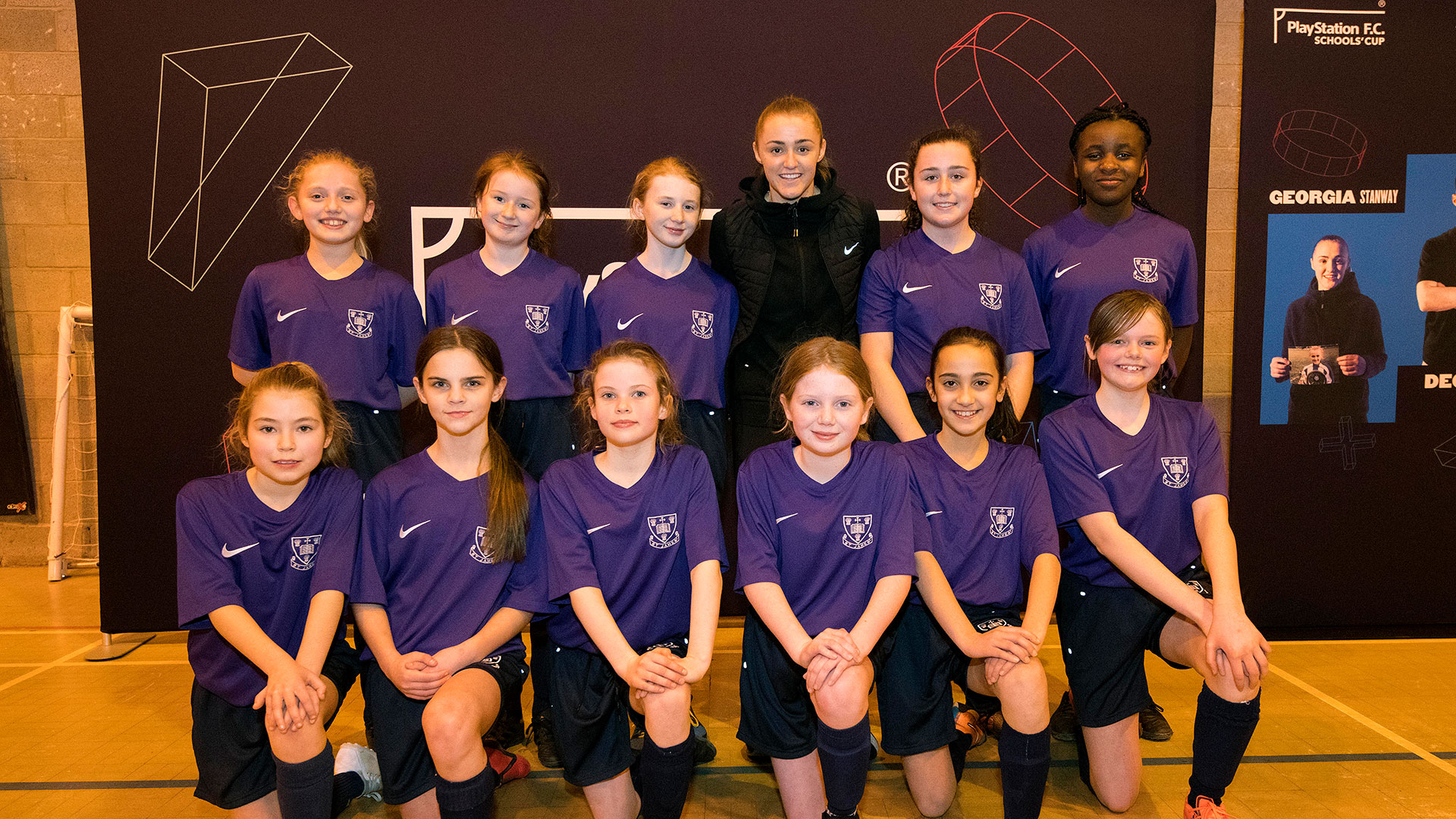 Year 7 girls 'Team of the Month' meet Georgia Stanway